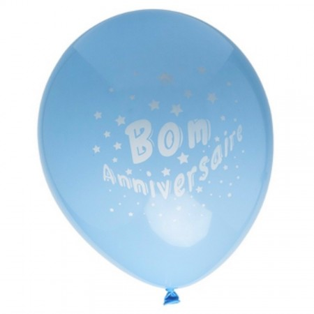 Lot de 8 Ballons de baudruche Rose Bon Anniversaire, Diam. 28 cm, 100% latex naturel