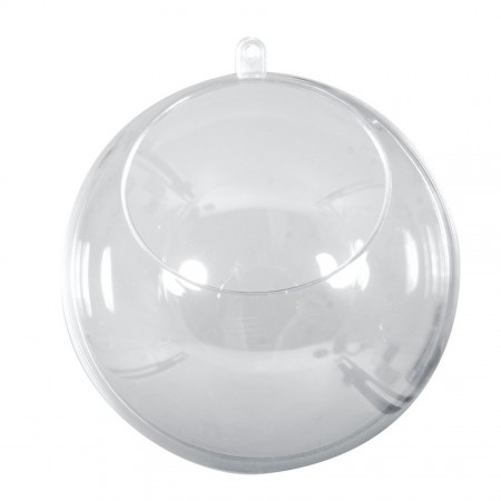 Boule en plastique cristal transparent séparable, diam. 20 cm