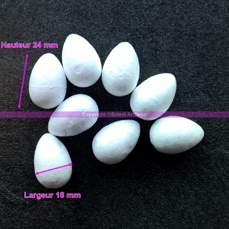 Set of 8 Polystyrene forms celbuds, height 24 mm, high density