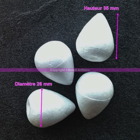 Set of 4 Polystyrene forms celbuds, height 35 mm, high density