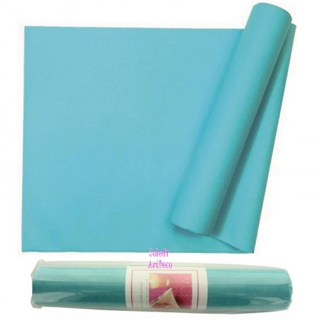 Non Woven Table Runner, Polyester Turquoise Color, Non-woven Roll Width 29cm, Length 10meters