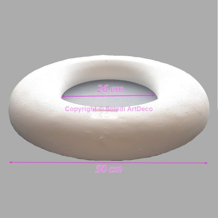 Polystyrene Ring white Ø 43 cm, high density