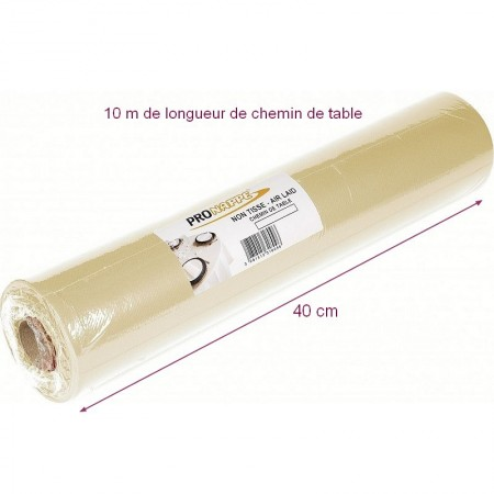 Chemin de table en organza brun, 5 m