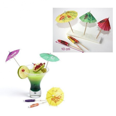 Decorative Wooden Cocktail Picks Firework, assorted colors, 15.5cm, Set of 10