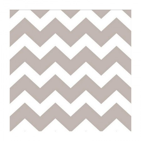 Set of 20 Coral and White Coral Paper Napkins, 33 x 33 cm, Spring zigzag decor