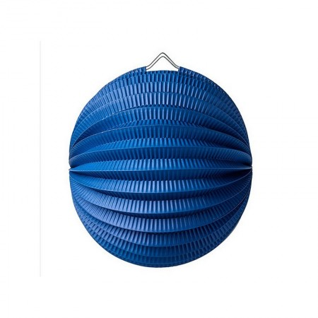 20 cm balloon lantern, Navy blue accordion paper, to hang for a springtime decoration