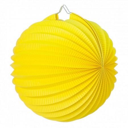 Lampion 20 cm ball, Old Rose accordion paper to hang for a spring decoration