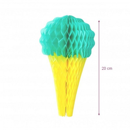 Light pink and yellow honeycomb ice, h.20 cm, summer decoration for baby shower or birthday
