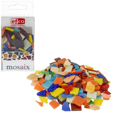 Lot of 200 gr of mosaics, glass, multicolored opaque, 1 to 2 cm, approx. 180 pieces