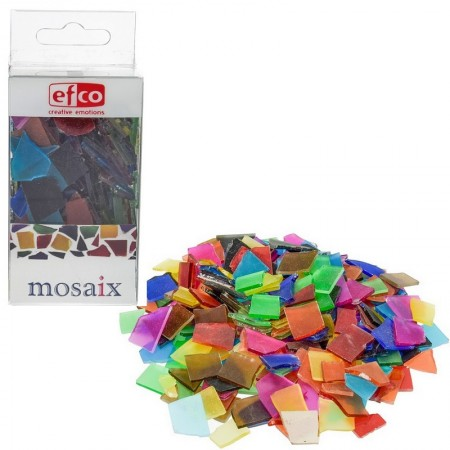 Lot of 200 gr of mosaics, glass, multicolored marbled, 1 to 2 cm, approx. 180 pieces