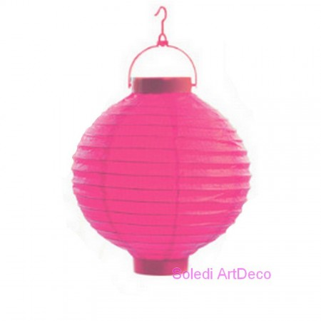 Small Lampion Ball shape LED Paper White, Lantern diameter 20 cm, with suspension, for outdoor