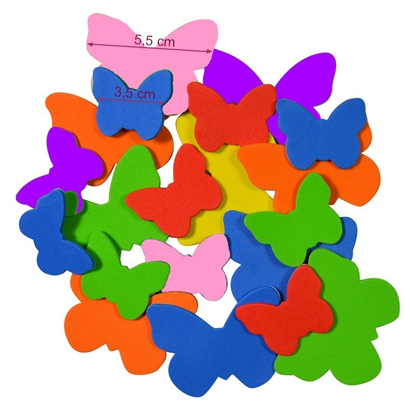 Set of 55 Adhesive Foam Star Stickers, 3 sizes 1.5 x 2.5 x 3.5 cm, for children and scrapbooking
