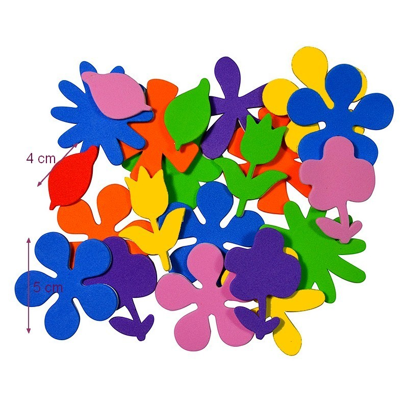 Set of 20 Adhesive Foam Butterfly Stickers, 2 sizes 3,5 x 5,5 cm, for children and scrapbooking