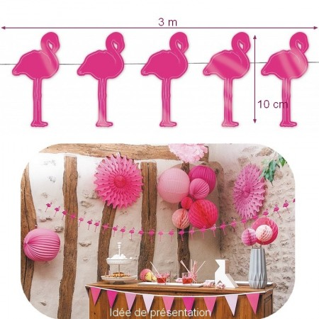 Decorative pineapple garland in card stock for tropical and summer decoration, top.10 cm x 3m long