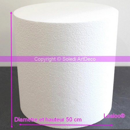 Big polystyrene cylinder, 50 x 50 cm, high density 28 kg/m3