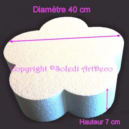 Polystyrene dummy flower 2D, thickness 7 cm, diameter 35 cm, high density 28 kg/m3