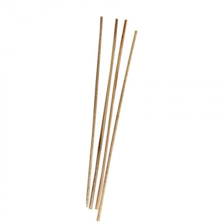 Bundle with 10 round wooden sticks in smooth beech wood, diameter 4mm, 50cm long