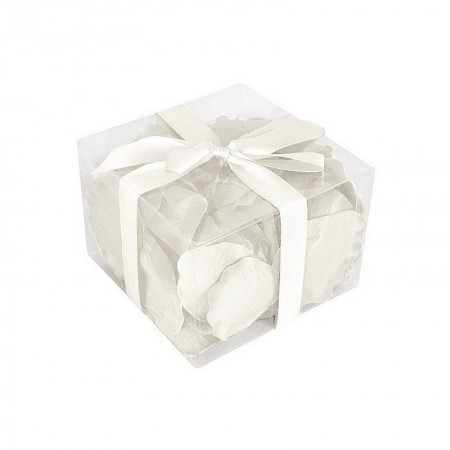 White Rose petals in fabric, 5.5 x 3.5 cm, pack of 100