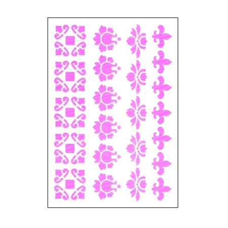 Plastic Board 15x21cm,Ornamental borders Length 19,5 cm, width from 2,3 to 3,4cm, for Scrapbooking