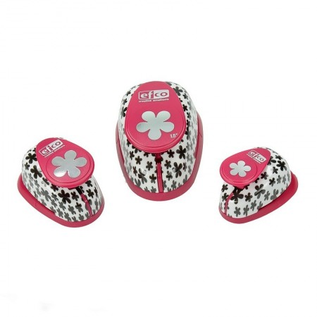 Set of 3 Retro Flower Punchers, size 1.6, 2.5 and 3.8 cm, for scrapbooking and cutting