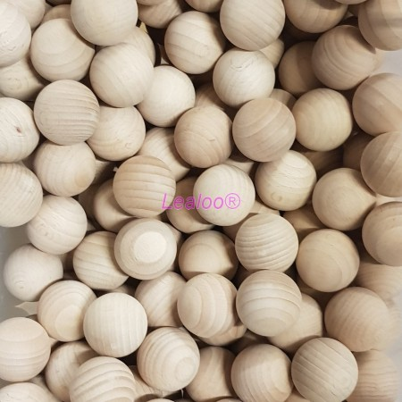 Lot of 10 Solid wooden balls, Diameter 40 mm, untreated beech wood, undrilled