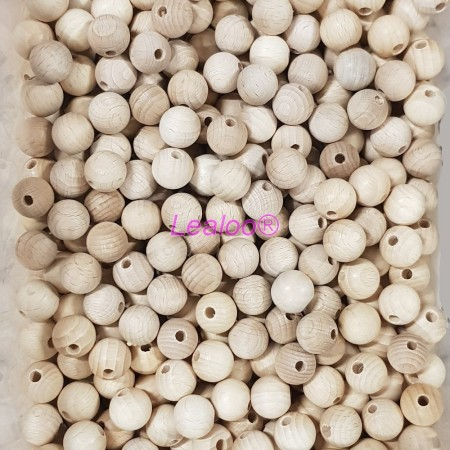 Set of 50 drilled balls made of beech wood, diameter 18 mm, hole 4 mm