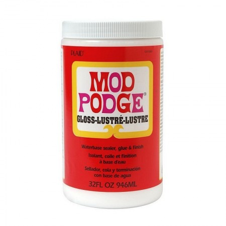 Mod Podge Colle pour collage serviette, 4 cond. au choix, mat ou brillant 946 ml