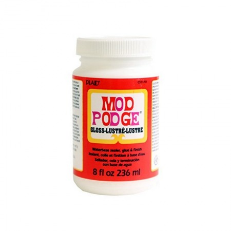 Mod Podge Glue, for gluing napkin, Glossy finish, 236 ml bottle