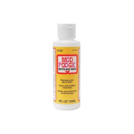 Mod Podge Colle pour collage serviette, 4 cond. au choix, mat ou brillant 118 ml