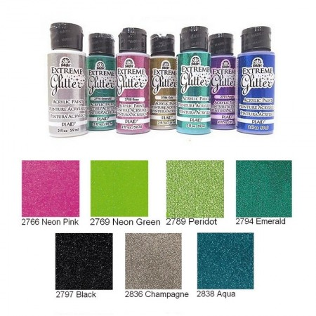 Extreme acrylic glitter paint, 59 ml, for paper, terracotta, wood etc