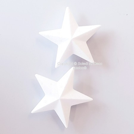 Lot of 2 Polystyrene form Star angular, 9,5 cm diameter, thickness 2 cm