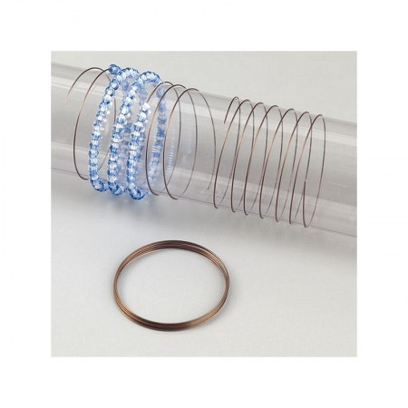 Raw spiral wire, Ø 0.5 mm x 90 cm, for making jewelry