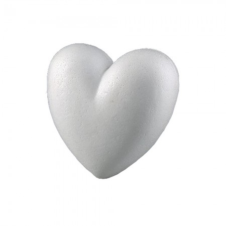 Domed full 3D polystyrene heart, Dimension 15cm, thickness 55mm