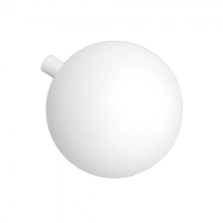White plastic ball, Ø 12 cm, with opening for fixation