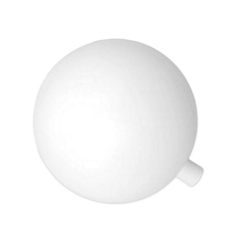 White plastic ball, Ø 15 cm, with opening for fixation 12mm