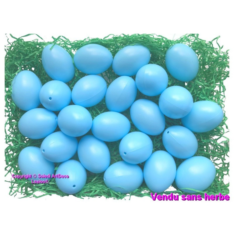 20 Plastic Easter Craft Eggs White for Painting /& Decoration 4.5 cm// 6cm