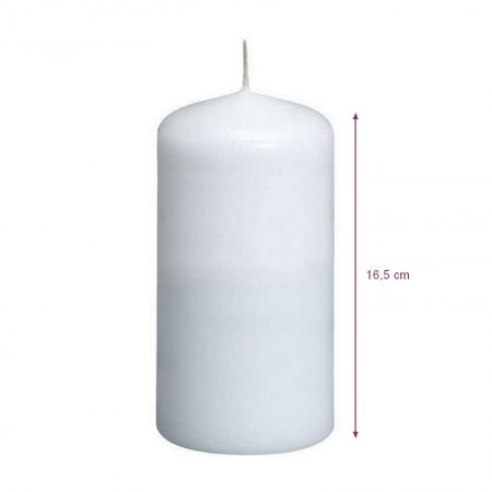 White candle diam. 60 mm x height. 165 mm, service life 38h