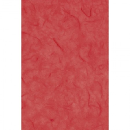 Set of 7 sheets of Mulberry fiber tissue paper, Orange, size 47 x 64 cm