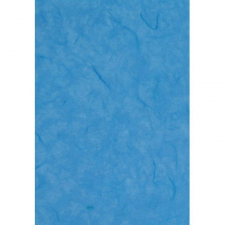 Set of 6 sheets of Mulberry fiber tissue paper, light blue, size 47 x 64 cm