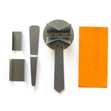 Set of tools for Efcolor jewelry, 5 pieces, for the work of overglaze, enamelling