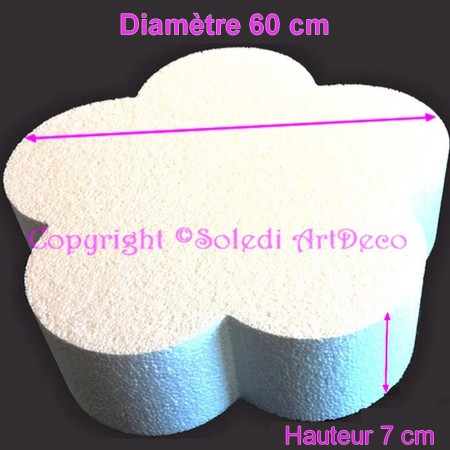 Polystyrene dummy flower 2D, thickness 7 cm, diameter 60 cm, high density 28 kg/m3