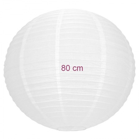 Large Lampion Chinese White Ball, Japanese Lantern, 50 cm in diameter, to hang