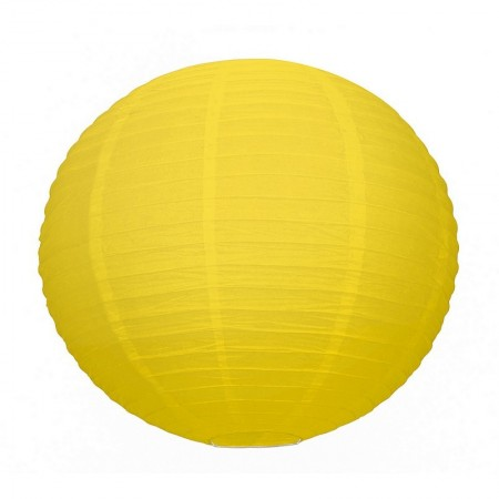 Large Yellow Japanese Lantern, Lampion Ball Paper, 50 cm, to Hang