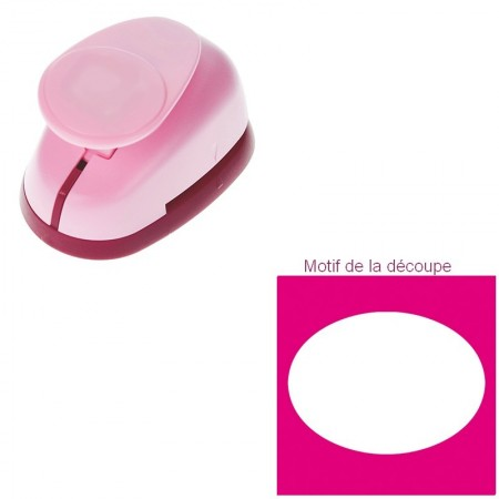Petite Perforatrice motif Oval, dimension 1,6 x 1,2 cm