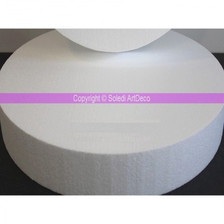 Polystyrene disk XL, thickness 10 cm, diameter 65 cm, high density 28 kg/m3