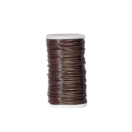 Florist's wire iron in brown, Diameter 0.35mm, Leight about 120 m