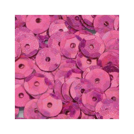 Sequins round cupped, 4.000 pieces diameter 6mm, to sew or stitch