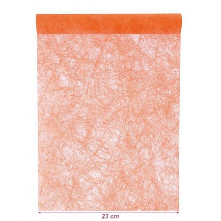Chemin de table intissé Orange, largeur 23 cm, longueur 20 m, décoration de table non tissé