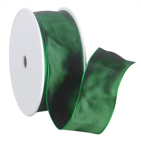 Ruban en Satin simple face, Vert, largeur 40 mm, longueur 39 m, rouleau décoratif