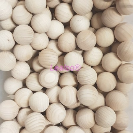 Lot of 50 Solid wooden balls, Ø 35 mm, untreated beech wood, undrilled